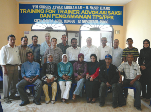 Team in Aceh, Indonesia